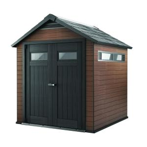 Keter Fusion 7.5 ft. x 7 ft. Wood and Plastic Composite Shed by Keter