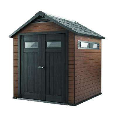 Fusion 7.5 ft. x 7 ft. Wood and Plastic Composite Shed