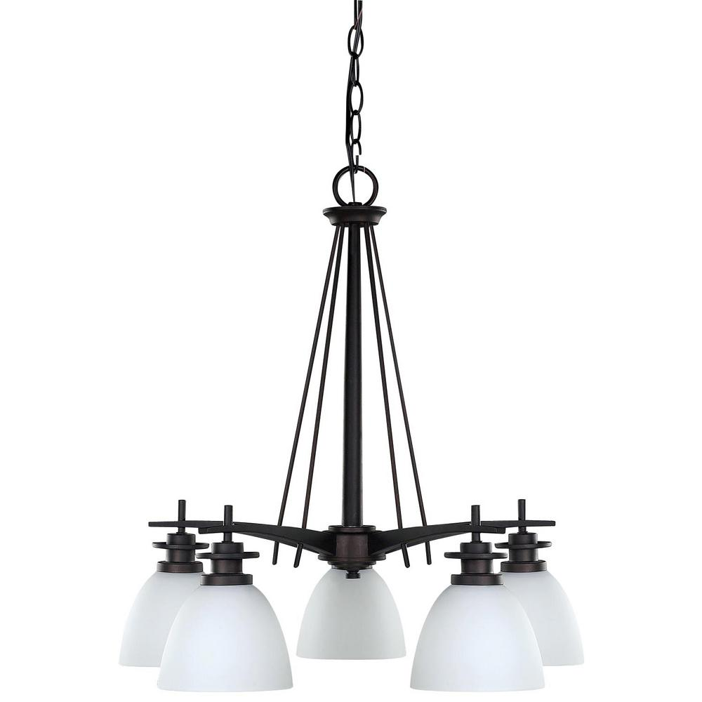 Canarm new yorker 5 light oil rubbed bronze chandelier with flat canarm new yorker 5 light oil rubbed bronze chandelier with flat opal glass shade aloadofball Choice Image