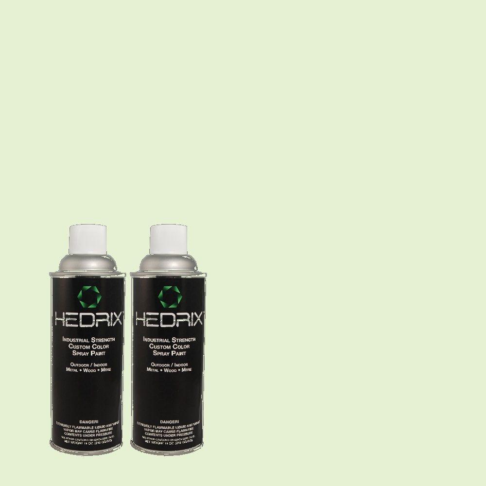 Hedrix 11 oz. Match of 440C-2 Cucumber Crush Low Lustre Custom Spray Paint (2-Pack)