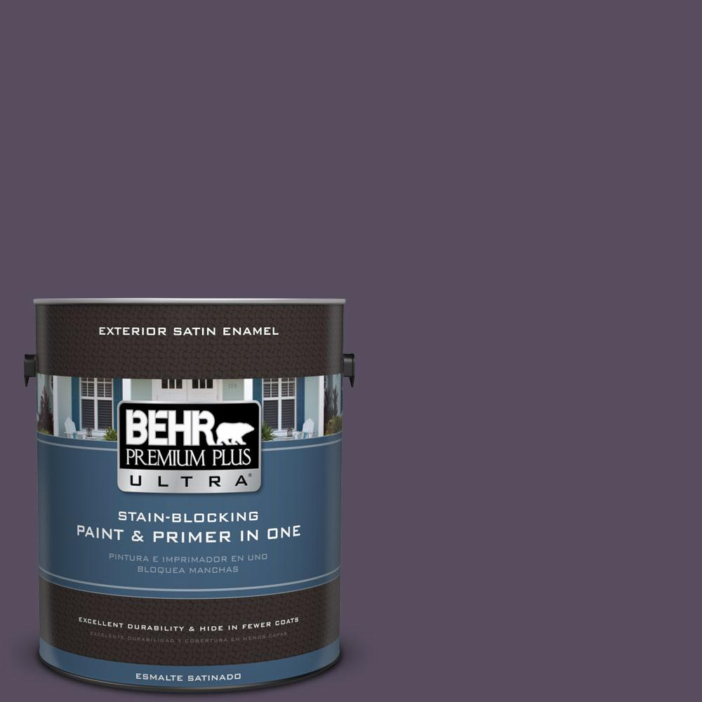 BEHR Premium Plus Ultra 1-gal. #660F-7 Napa Grape Satin Enamel Exterior Paint