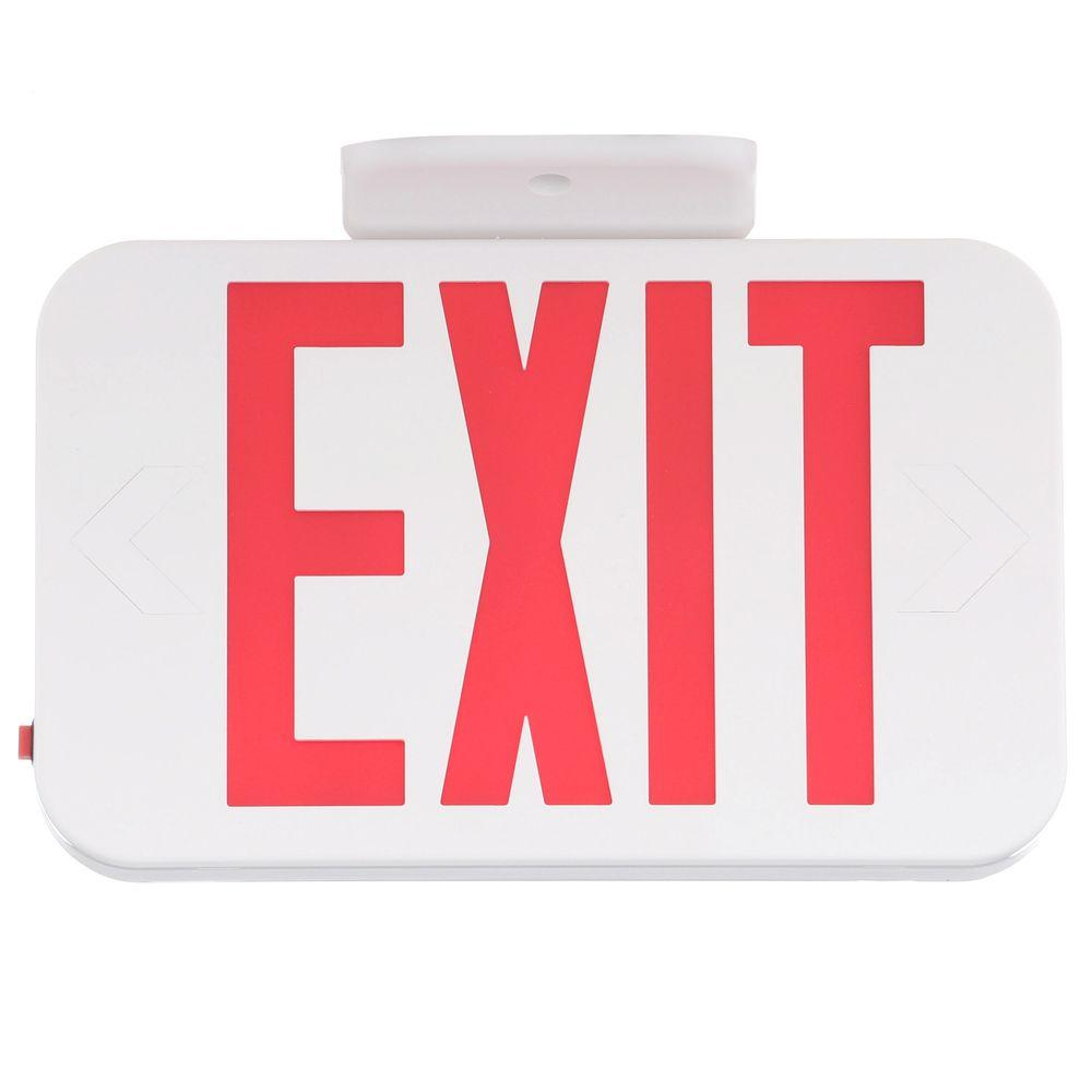 Progress Lighting Thermoplastic LED Exit Sign with Red Letters