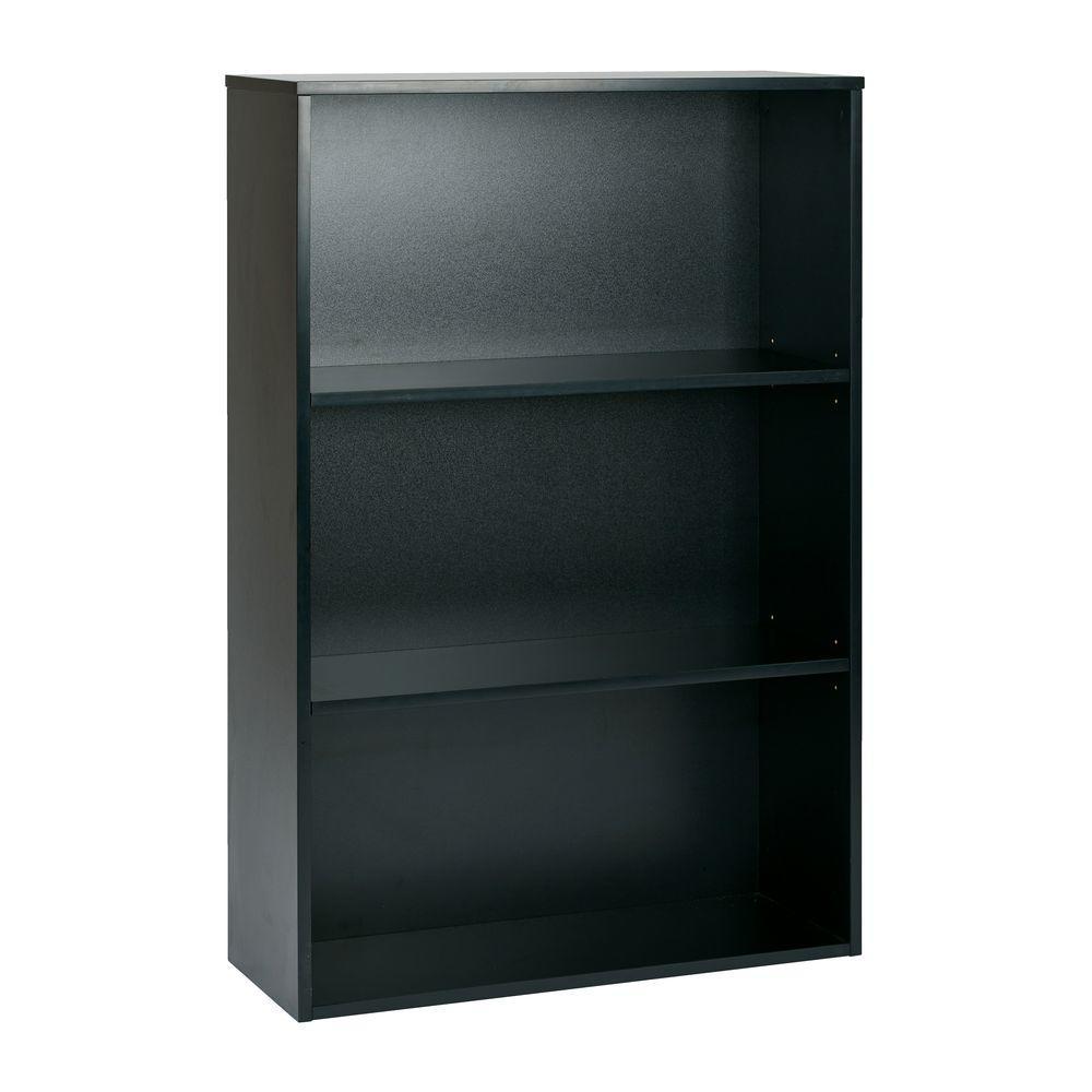 Prado Black Adjustable Open Bookcase