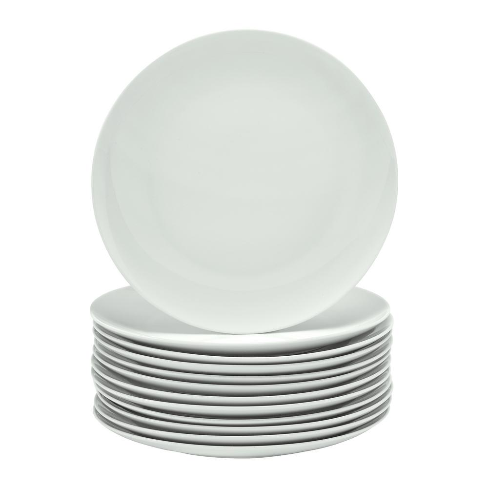 Over and Back Organic White Dinner Plate (Set of 6)-6 - The Home Depot