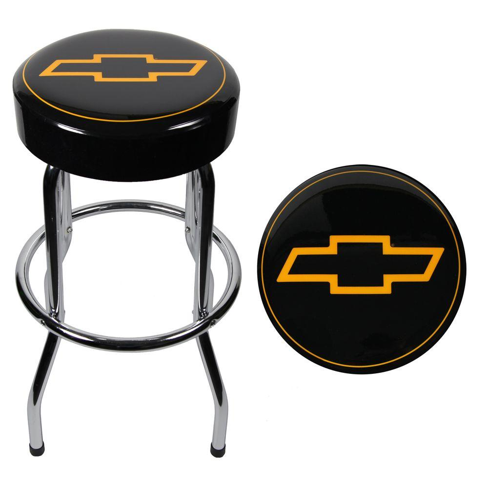 Garage stool comfortable foam padded non swivel top for Garage seat argenteuil 95