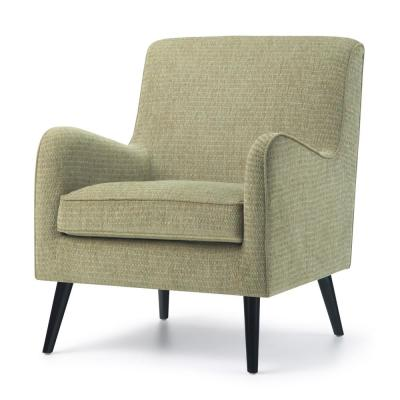 Dysart 28 in. Wide Mid Century Modern Arm Chair in Pear Green Fabric