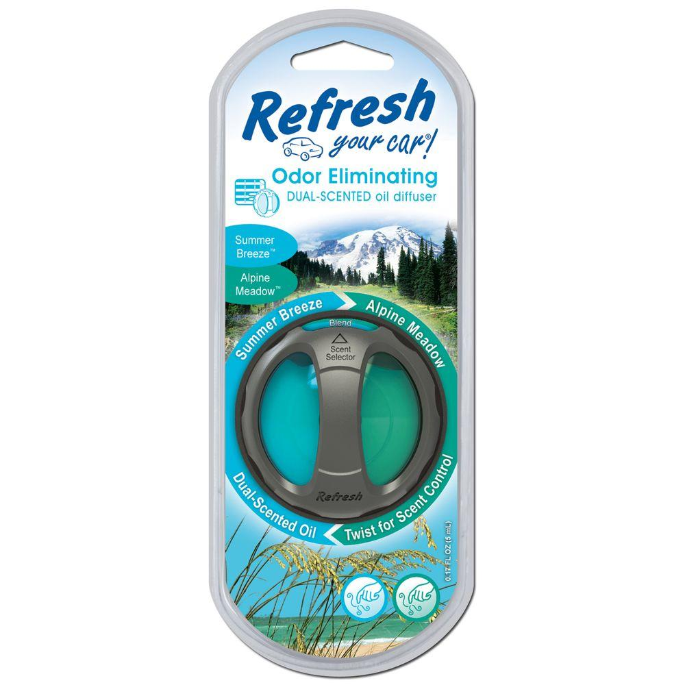 38d06c247ad Refresh Your Car. Alpine Meadow and Summer Breeze Odor Eliminating Dual  Scented Oil Diffuser