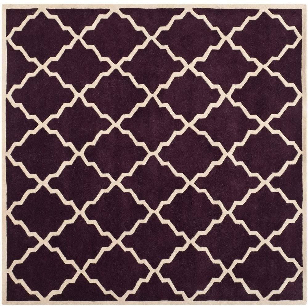 Chatham Dark Purple 7 ft. x 7 ft. Square Area Rug