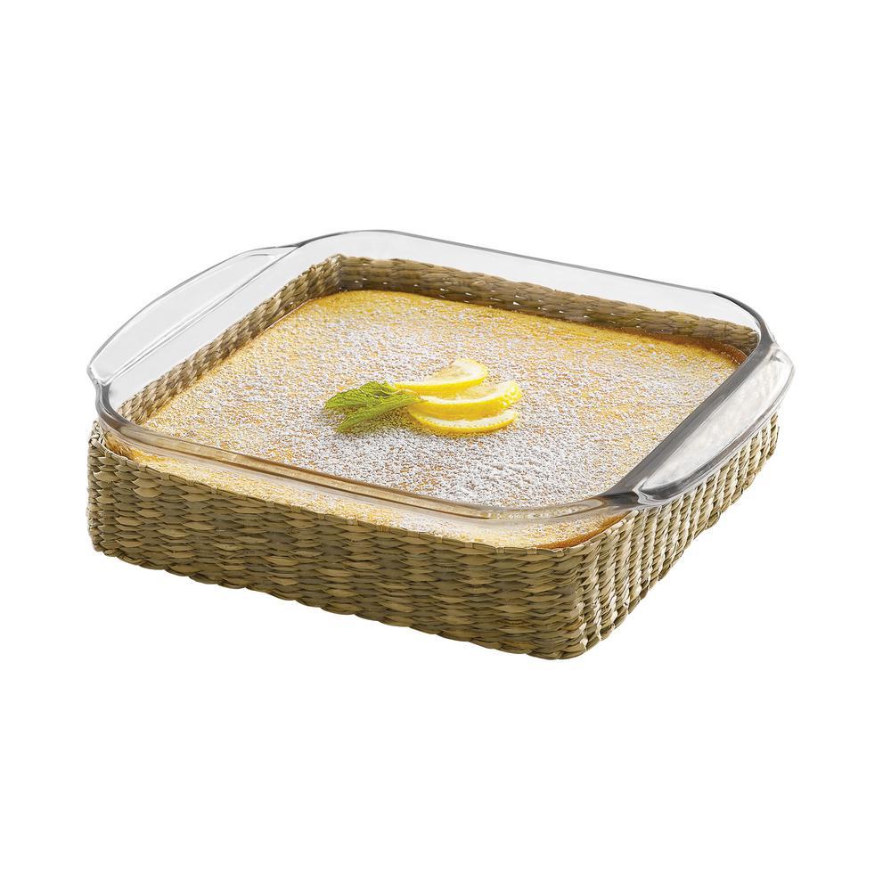 Baker's Basics 2-Piece Glass Bake Dish with Basket