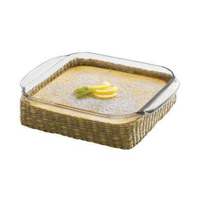 Baker's Basics 2-Piece Glass Bake Dish with Basket