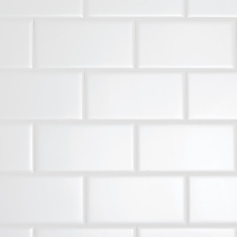 Daltile Restore Bright White 3 in. x 6 in. Ceramic Subway Wall Tile (12.5 sq. ft. / Case)
