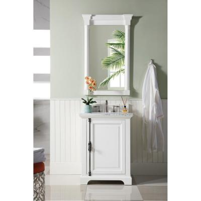 Providence 26 in. Single Vanity in Cottage White with Solid Surface Vanity Top in Arctic Fall with White Basin