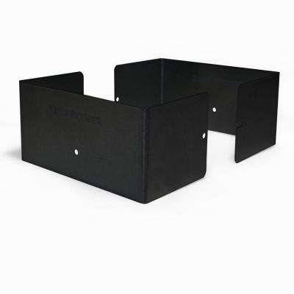 6 in. L x 6 in. W x 1/4 ft. H Black Fence Post Guard for Wood or Vinyl