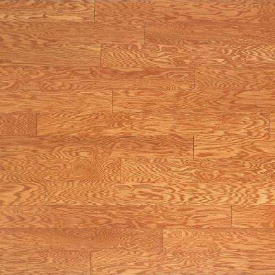 Take Home Sample - Oak Golden Engineered Click Hardwood Flooring - 5 in. x 7 in.