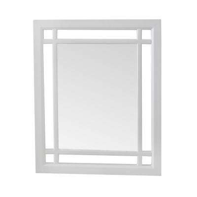 Albion 24 in. x 20 in. Framed Wall Mirror in White