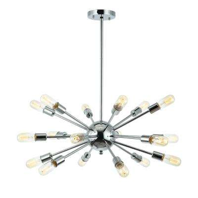 Sputnik Style Chrome Chandelier