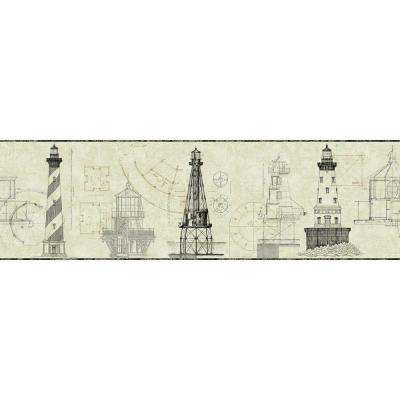 American Classics Architectural Lighthouse Wallpaper Border