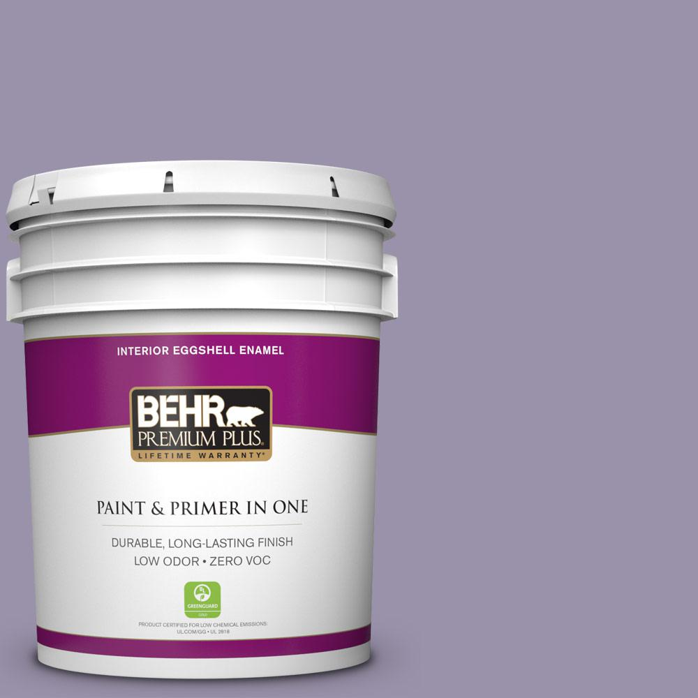 5 gal. #650F-4 Delectable Eggshell Enamel Zero VOC Interior Paint and