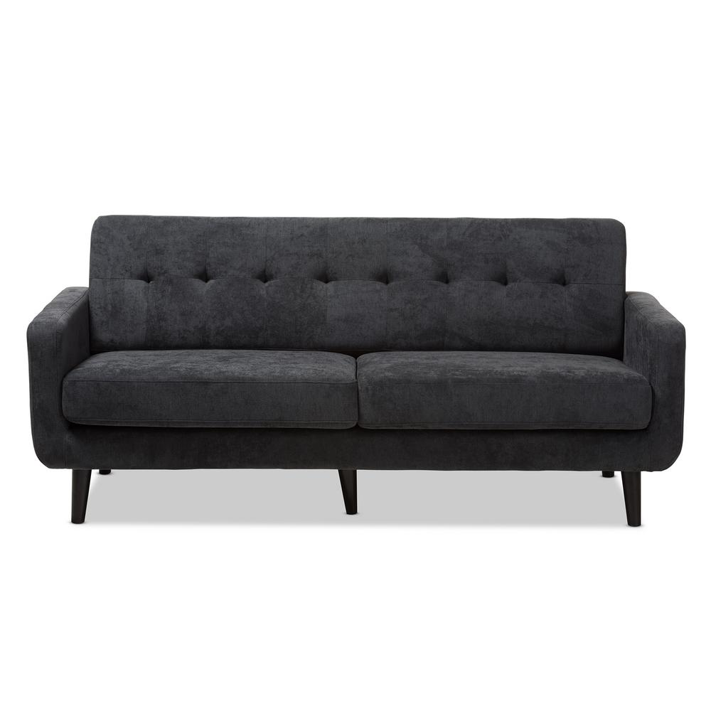 Carina Dark Gray Fabric Sofa