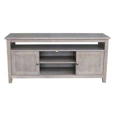 57 in. W Taupe Gray TV Console