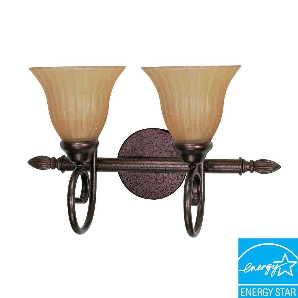 Green Matters Concord 2-Light Copper Bronze Bath Vanity Light