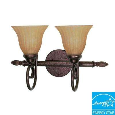 Concord 2-Light Copper Bronze Bath Vanity Light