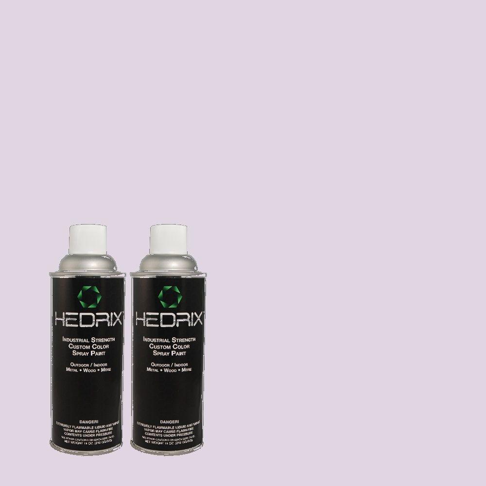 Hedrix 11 oz. Match of 1B34-2 Quartz Moon Gloss Custom Spray Paint (2-Pack)