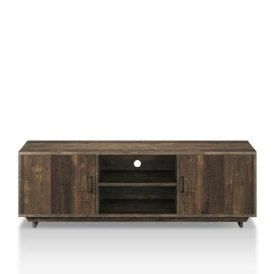 Cheney 63 in. Reclaimed Oak Wood TV Stand Fits TVs Up to 63 in. with Storage Doors