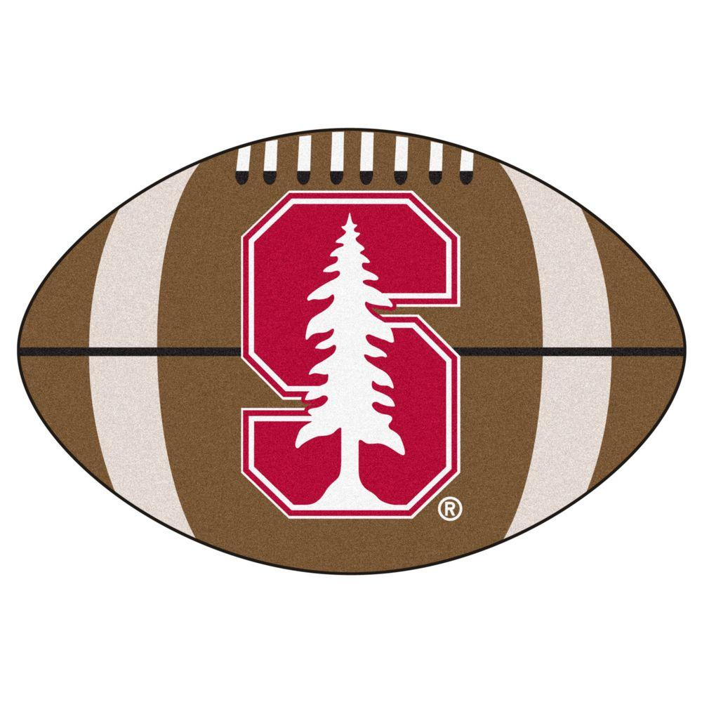 FANMATS NCAA Stanford University Brown 2 ft  x 3 ft  Specialty Area Rug