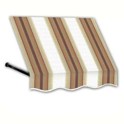 3 ft. Dallas Retro Window/Entry Awning (44 in. H x 24 in. D) in White/Tan/Terra Stripes