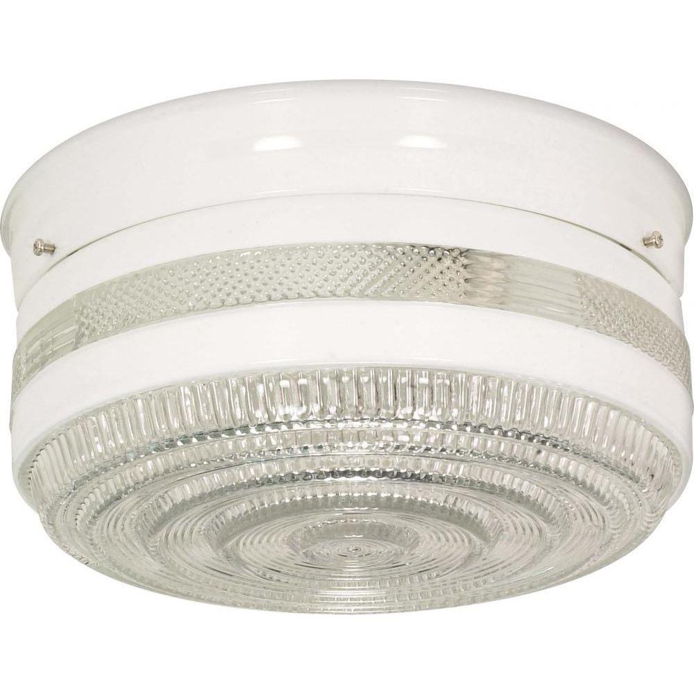 Tony 2-Light White Flushmount
