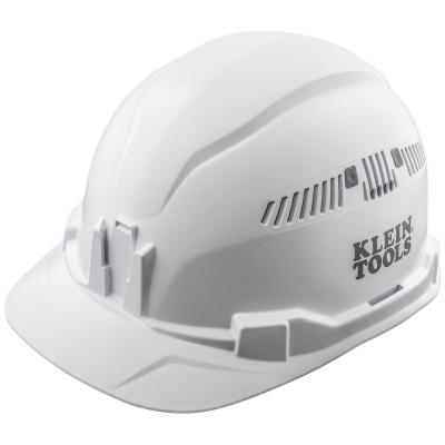 Hard Hat, Vented, Cap Style, White