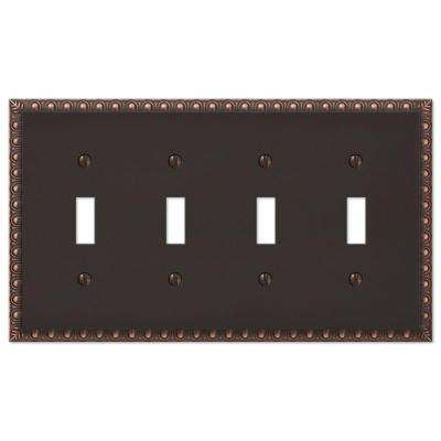 Reaissance 4 Toggle Wall Plate - Aged Bronze