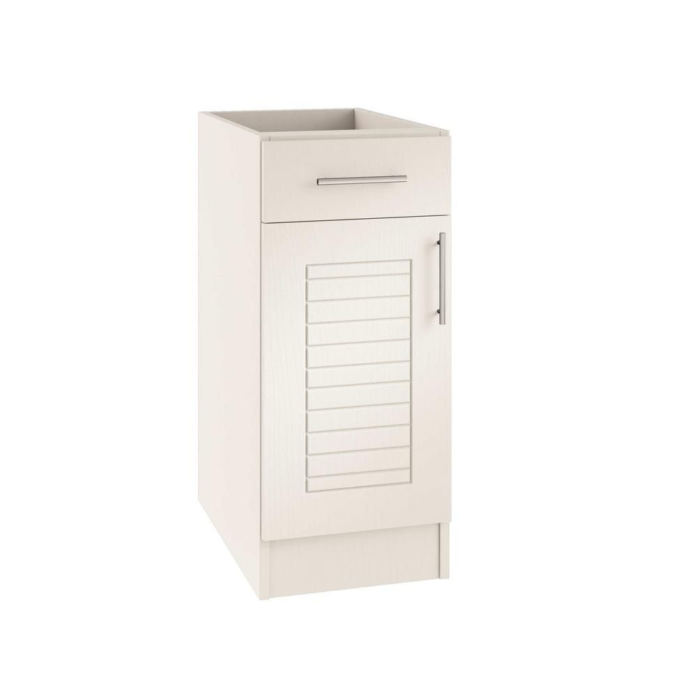 Assembled 12x34.5x24 in. Key West Open Back Outdoor Kitchen Base Cabinet