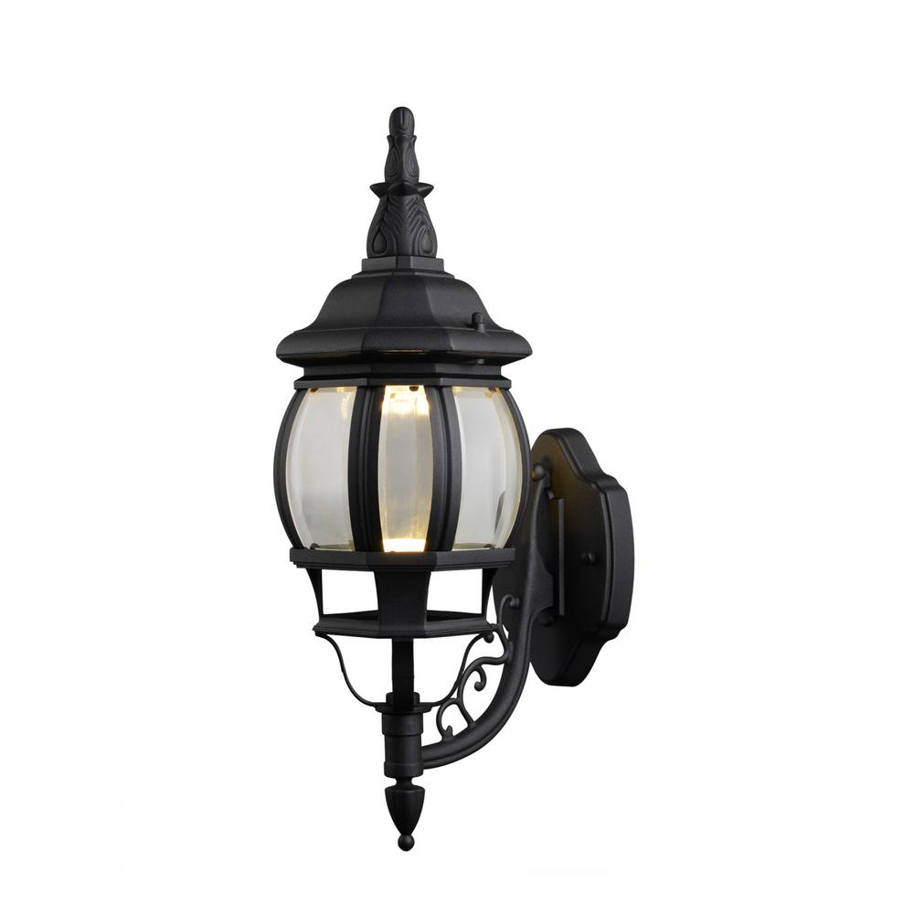 Design House Canterbury II Black Outdoor Integrated LED Wall Mount Lantern