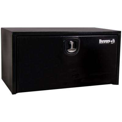 24 in. x 24 in. x 36 in. Black Steel Underbody Truck Box with 3-Point Latch