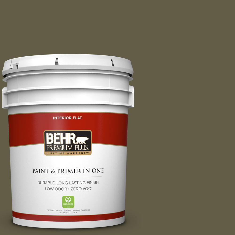 5 gal. #HDC-FL13-9 Squirrel's Nest Zero VOC Flat Interior Paint