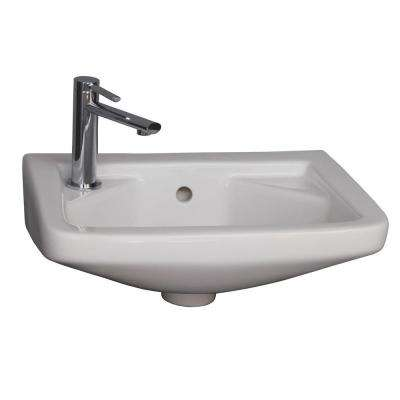 Mirna Wall-Hung Bathroom Sink in White