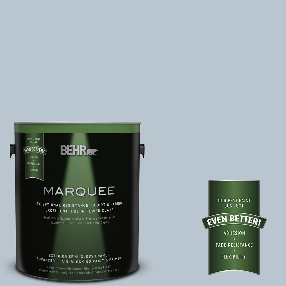 BEHR MARQUEE 1-gal. #560E-3 Silver Strand Semi-Gloss Enamel Exterior Paint
