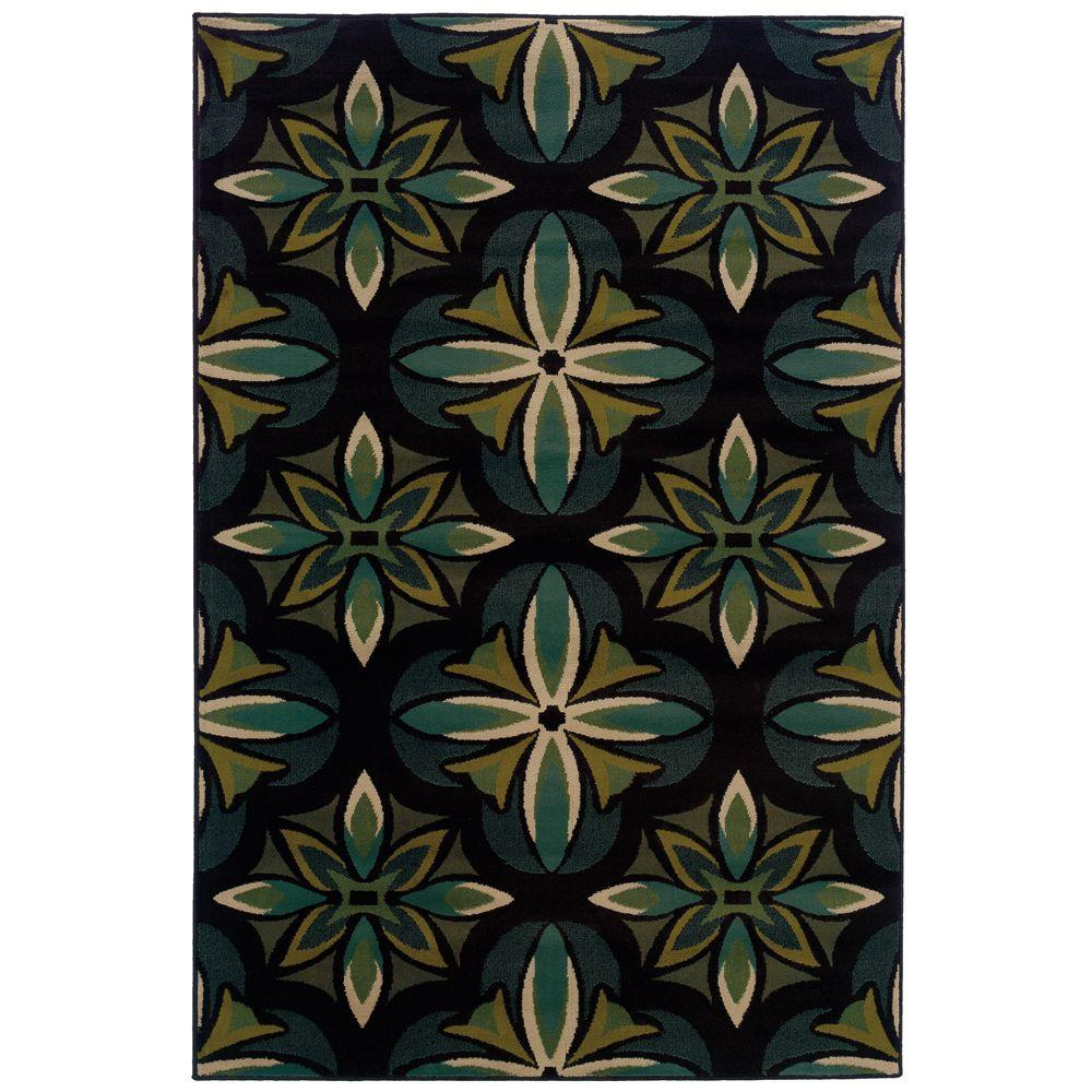 Oriental Weavers Camille Daly Blue 3 ft. 2 in. x 5 ft. 5 in. Area Rug