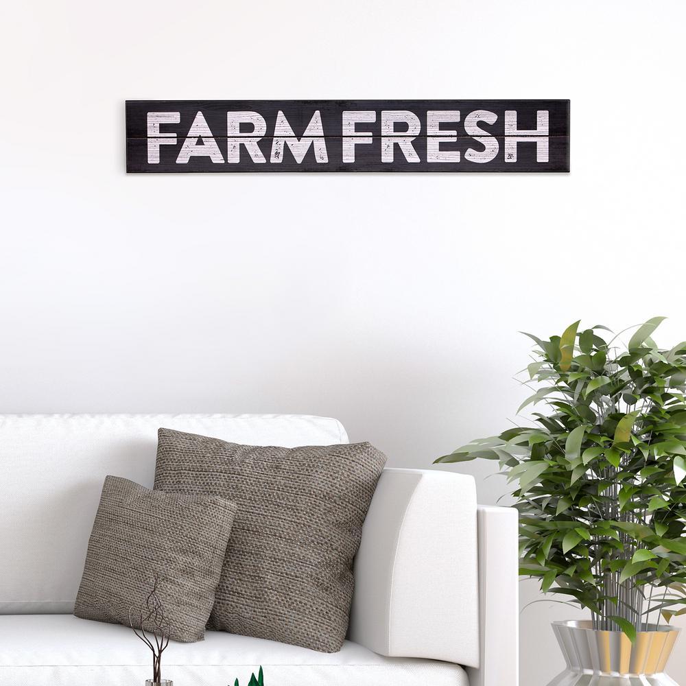 Farm Fresh Rustic Wood Sign