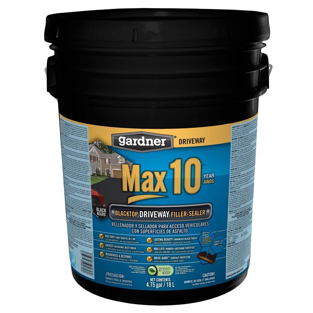Gardner 4.75 Gal. Max 10 Blacktop Driveway Filler-Sealer (27-Pallet)
