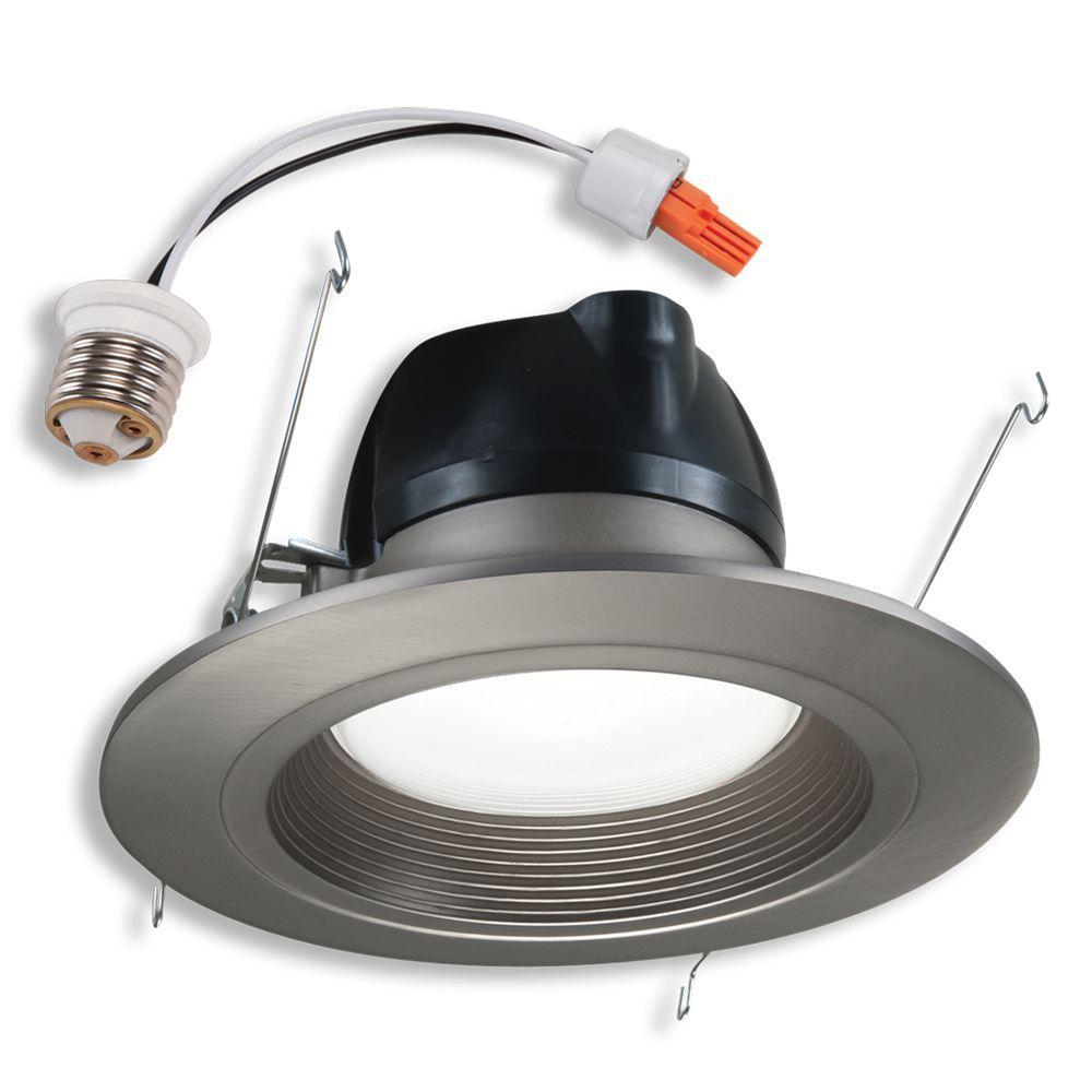 Halo 6 in. Retrofit Satin Nickel Recessed LED Lighting Trim