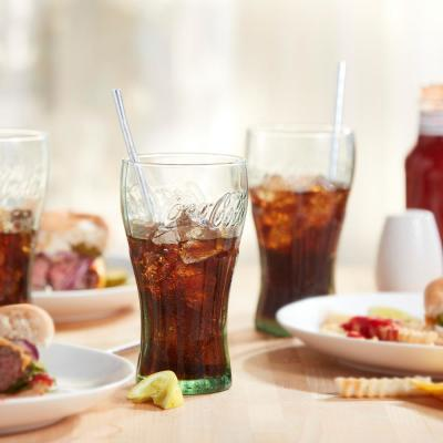 Coke 6-Piece Clear Glass Tumbler Set