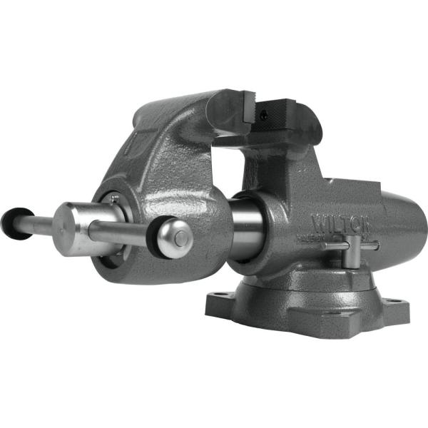 Machinist 5 in. Jaw Round Channel Vise with Swivel Base