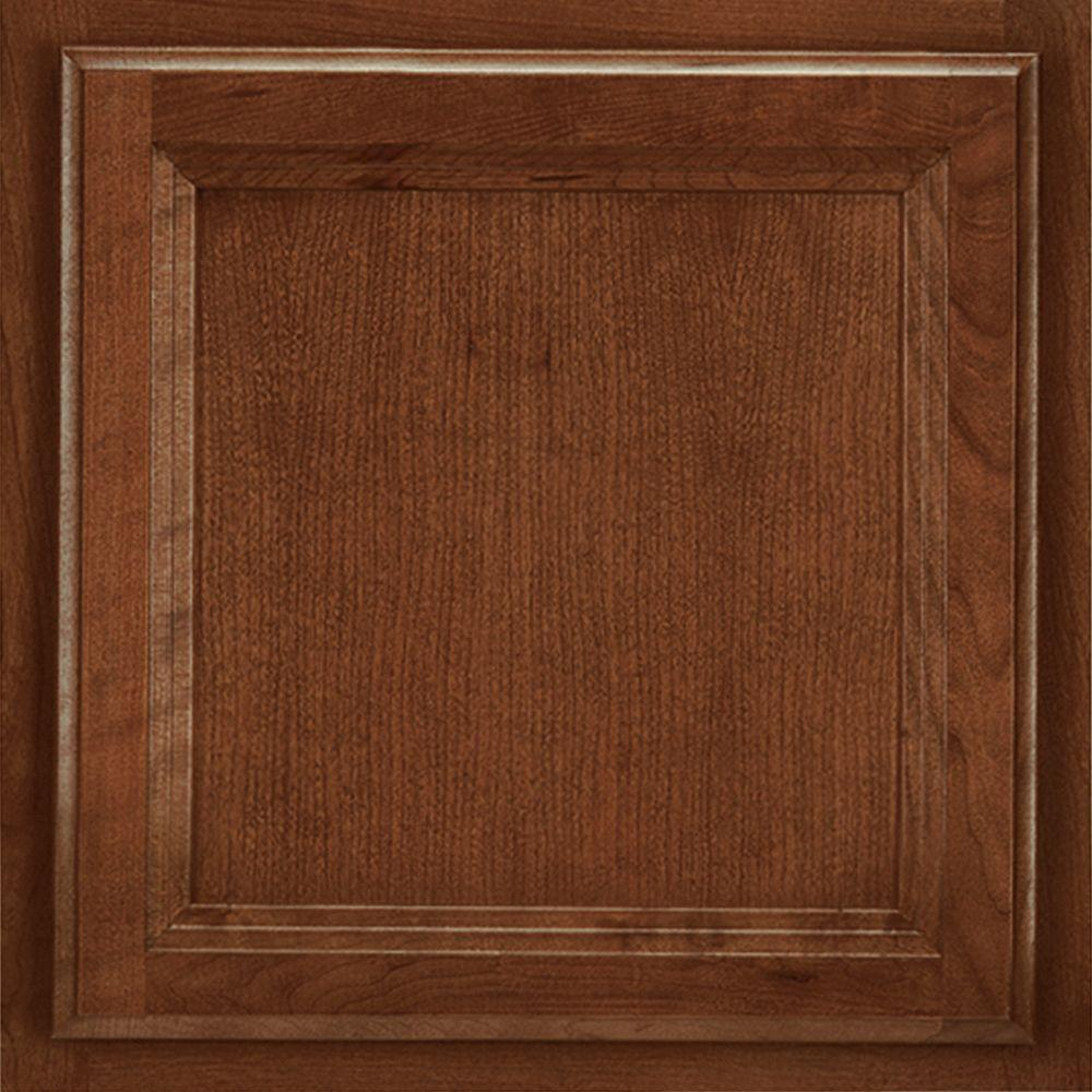 American Woodmark 13x12 7 8 In Cabinet Door Sample In Ashland Cherry Spice 99927 The Home Depot