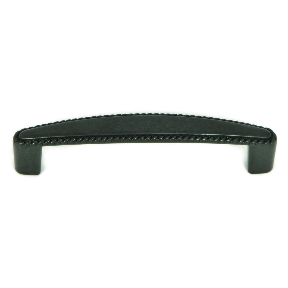 Incroyable Stone Mill Hardware Austin 3 3/4 In. Antique Black Cabinet Pull (