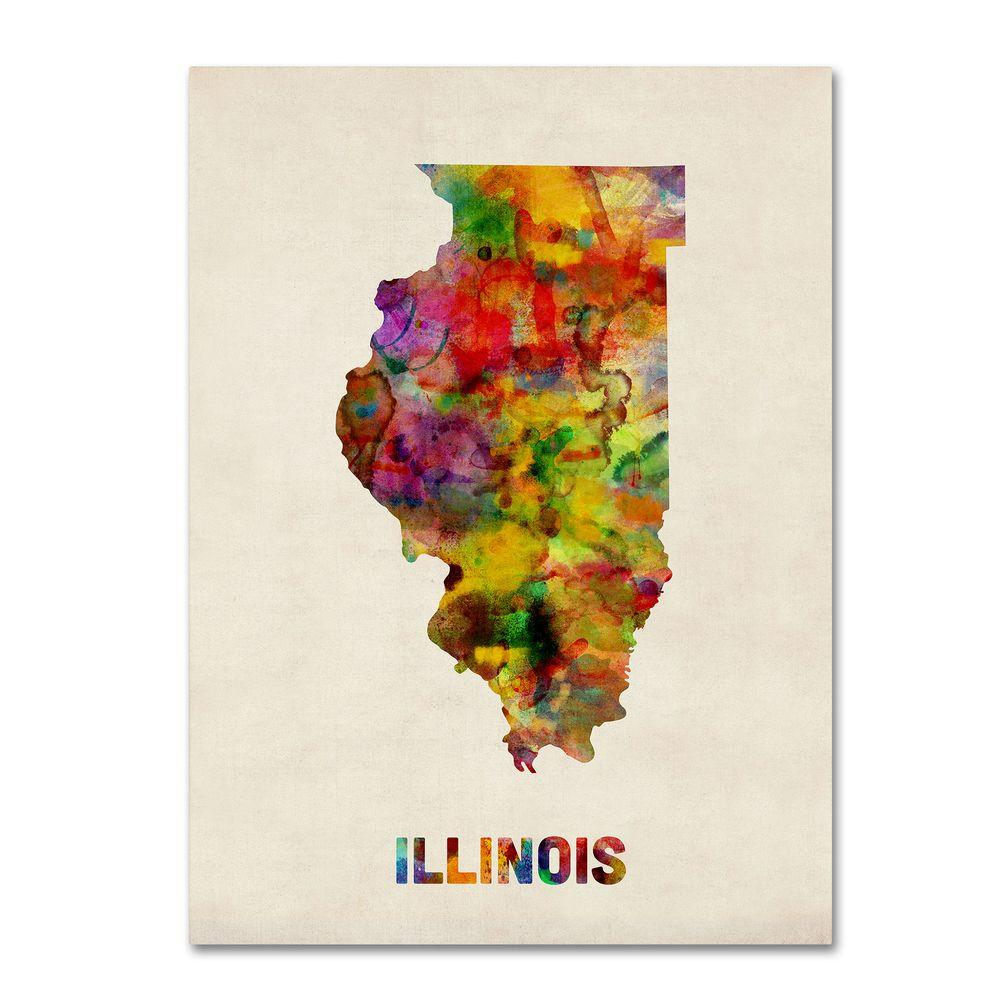 24 in. x 32 in. Illinois Map Canvas Art Map In Illinois on phone numbers in illinois, history in illinois, map texas, schools in illinois, products in illinois, map of cook county illinois, events in illinois, major cities in illinois, restaurants in illinois, deed in illinois, resources in illinois, fun places to go in illinois, address in illinois, sights to see in illinois, things to see in illinois, time in illinois, facilities in illinois, state capital in illinois, map of illinois cities, union in illinois,