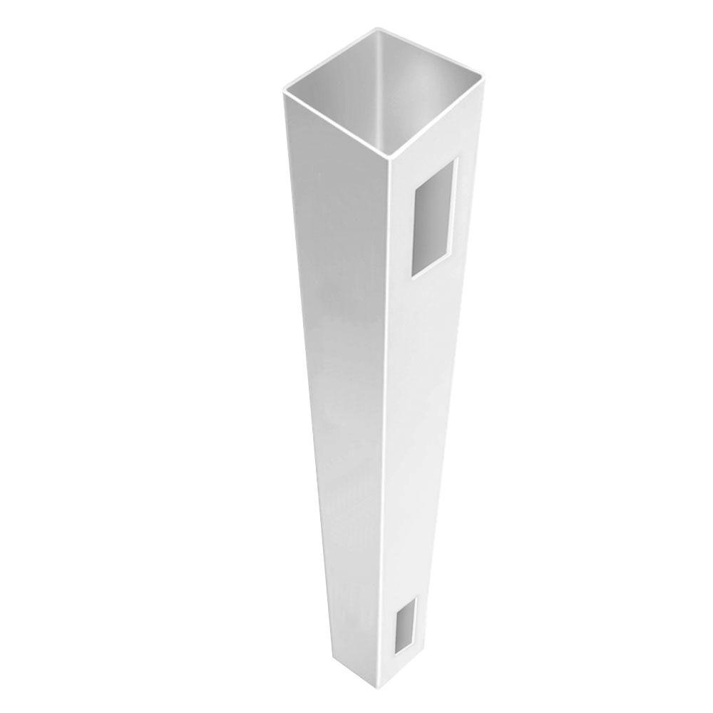 Veranda 5 in. x 5 in. x 7 ft. White Vinyl Routed Fence End/Gate Post