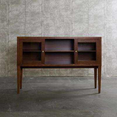 52 in. Hepworth Wood Buffet with Tapered Legs - Walnut